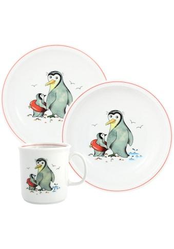 TRIPTIS® Thüringer Meisterporzellan Kindergeschirr-Set »Pinguin«, (Set, 3 tlg.), mit... kaufen