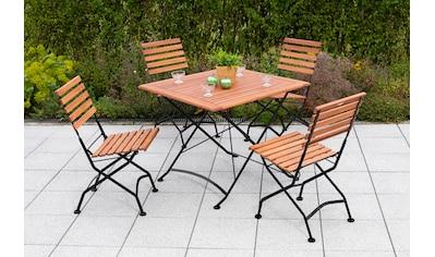 MERXX Gartenmöbelset »Schloßgarten«, (5 tlg.), 4 Klappsessel, Tisch kaufen