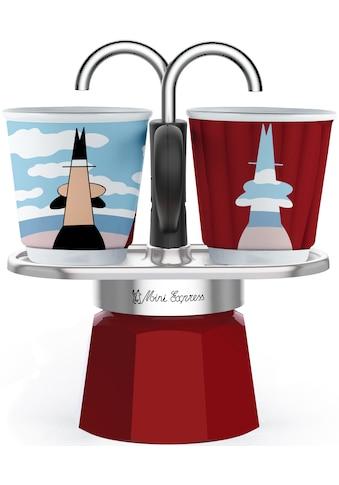 BIALETTI Espressokocher »Mini Express Magritte«, (1 Espressokocher + 2 Espressobecher,... kaufen