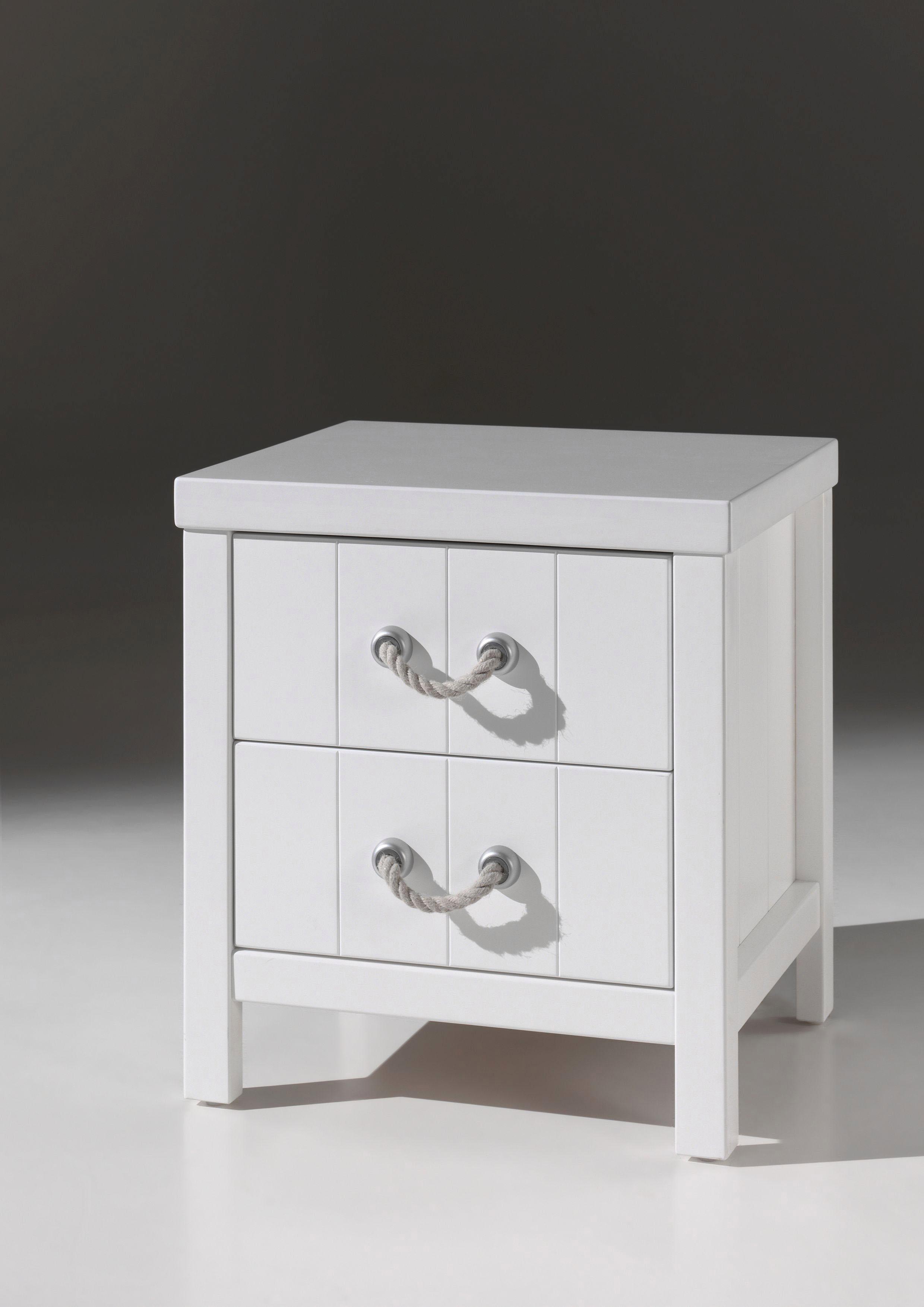Vipack Nachttisch »Lewis«, MDF-Oberfläche   Schlafzimmer > Nachttische   Weiß   VIPACK FURNITURE