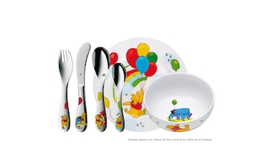 WMF Kindergeschirr mit Kinderbesteck 6tlg, Cromargan Edelstahl 18/10 »Winnie the Pooh« kaufen