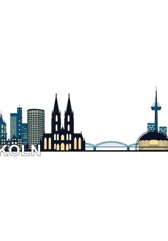 Wall - Art Wandtattoo »XXL Stadt Skyline Köln Fußball 120cm« (1 Stück) kaufen