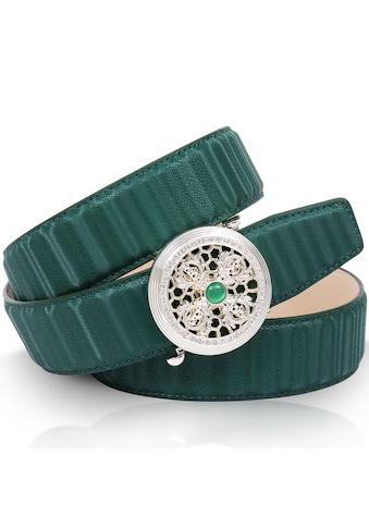 Anthoni Crown Ledergürtel, mit natursilberfarbener Automatik-Schließe und drehendem... kaufen