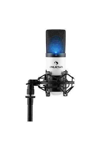 Auna LED USB Kondensator Mikrofon weiß Niere Studio »MIC-900« kaufen