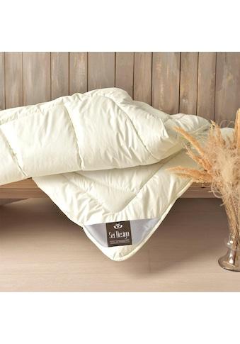 Naturfaserbettdecke, »WOOL Premium«, SEI Design, Füllung: 100% echter naturbelassener Schurwolle, Bezug: 100% Baumwolle kaufen