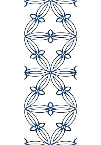 QUEENCE Vinyltapete »Muster - Blau«, 90 x 250 cm, selbstklebend kaufen