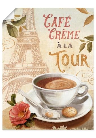 Artland Wandbild »Kaffee in Europa III«, Getränke, (1 St.), in vielen Größen &... kaufen
