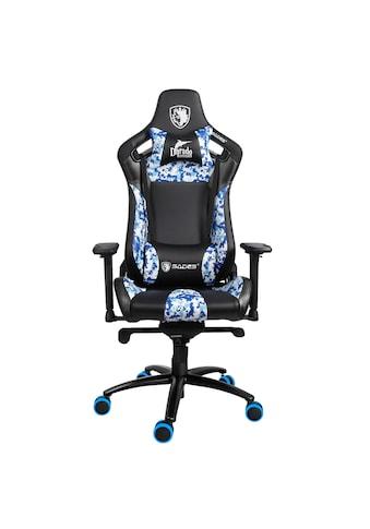 """Sades Gaming-Stuhl »""""Dorado"""" schwarz/camouflage/blau, Kunstleder, 4D-Armlehnen,... kaufen"""