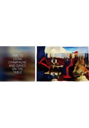 queence Leinwandbild »Drink & Dance«, (Set), 2er-Set kaufen