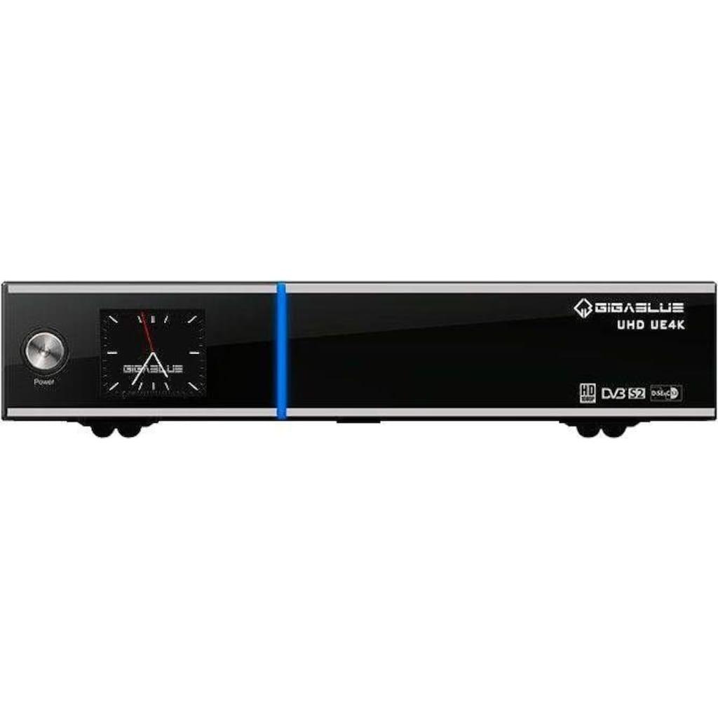 Gigablue SAT-Receiver »UHD UE 4K UltraHD LINUX Receiver«, (LAN (Ethernet) Elektronische Programmzeitschrift-USB PVR Ready)