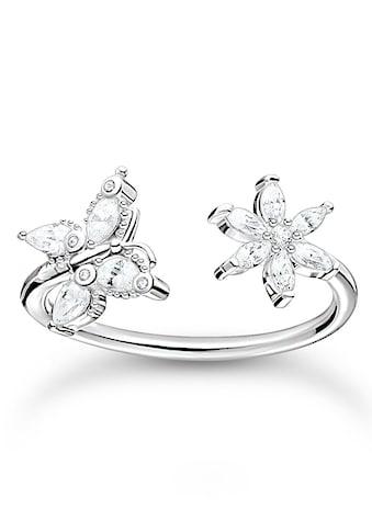 THOMAS SABO Fingerring »Schmetterling, TR2355-051-14-50,52,54,56,58,60,... kaufen