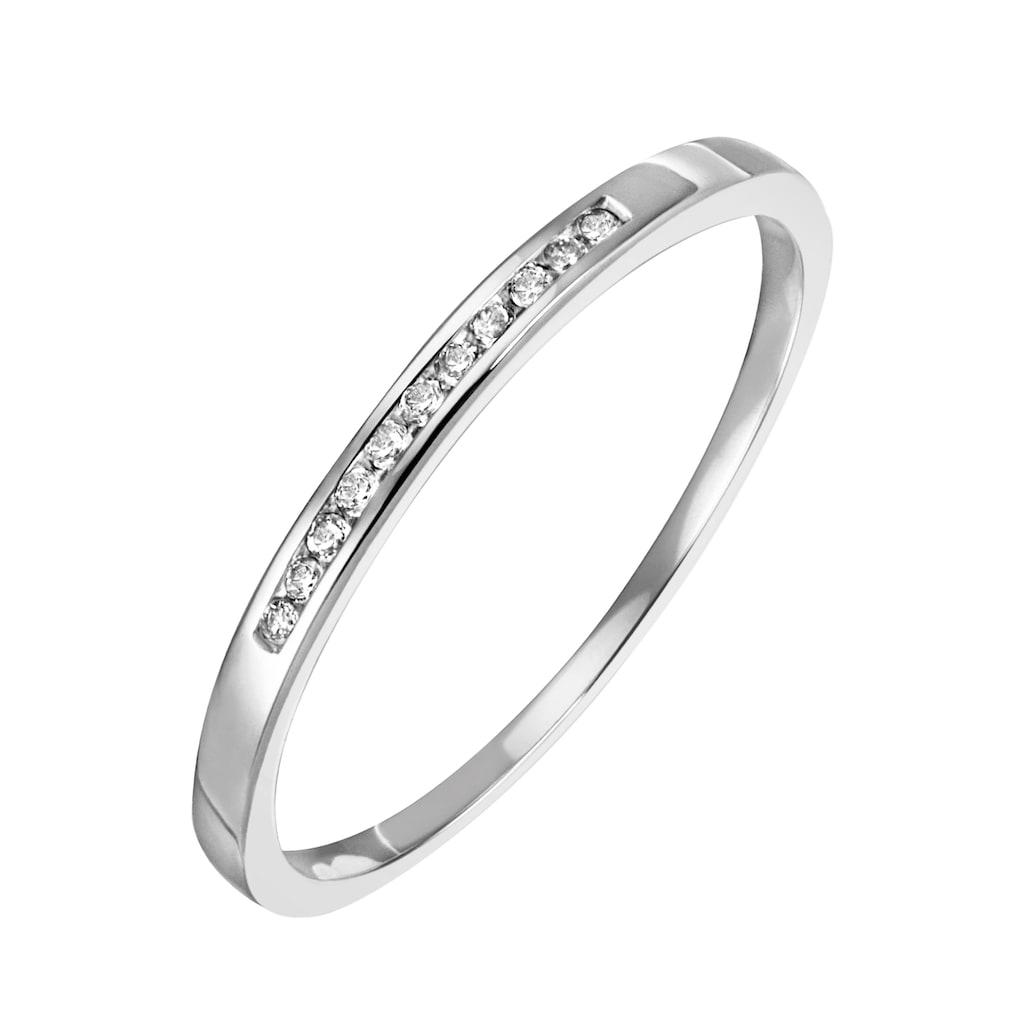 Firetti Diamantring »Funkelnd, ca. 1,80 mm breit, glänzend, massiv«, mit Brillanten