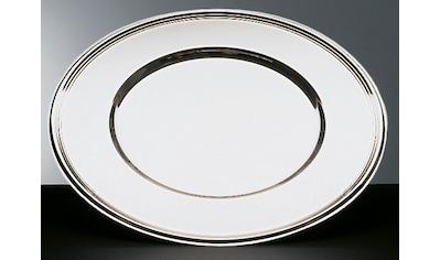 APS Platzteller, Edelstahl, Ø 33 cm, mit Fadendekor kaufen