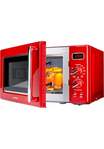 Privileg Mikrowelle »450555«, Grill, 700 W, im Retro-Design, 8 Automatikprogramme, rot kaufen
