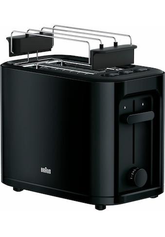 Braun Toaster »HT 3010 BK«, für 2 Scheiben, 1000 Watt kaufen