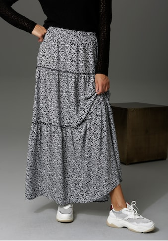Aniston CASUAL Maxirock, mit Blüten oder Blättern bedruckt - du hast die Wahl - NEUE KOLLEKTION kaufen