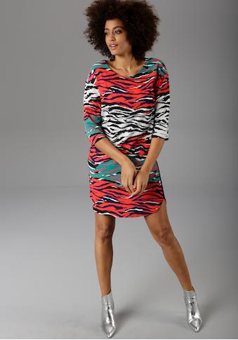Aniston CASUAL Sommerkleid, mit bunten Zebra-Druck kaufen