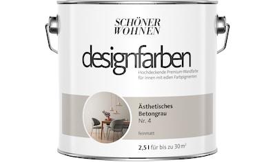 SCHÖNER WOHNEN-Kollektion Wand- und Deckenfarbe »Designfarben«, Ästhetisches Betongrau... kaufen