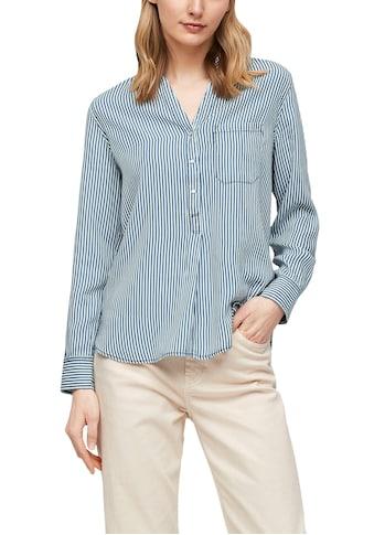 s.Oliver Hemdbluse, mit verkürzter Knopfleiste und aufgesetzter Brusttasche kaufen