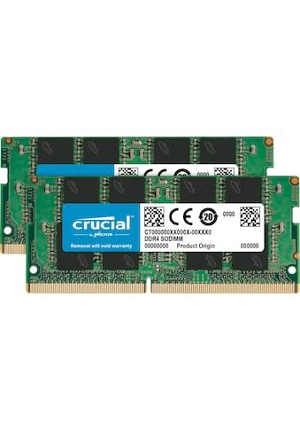 Crucial Laptop-Arbeitsspeicher »32GB Kit (2 x 16GB) DDR4-3200 SODIMM« kaufen