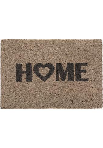 Andiamo Fußmatte »Kokos Home Heart«, rechteckig, 15 mm Höhe, Schmutzfangmatte,... kaufen