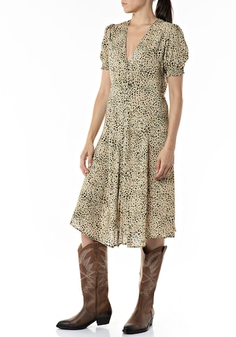 Replay Sommerkleid, süßes Midikleid mit Animalprint kaufen