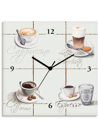 Artland Wanduhr »Cappuccino - Kaffee«, lautlos, ohne Tickgeräusche, nicht tickend,... kaufen