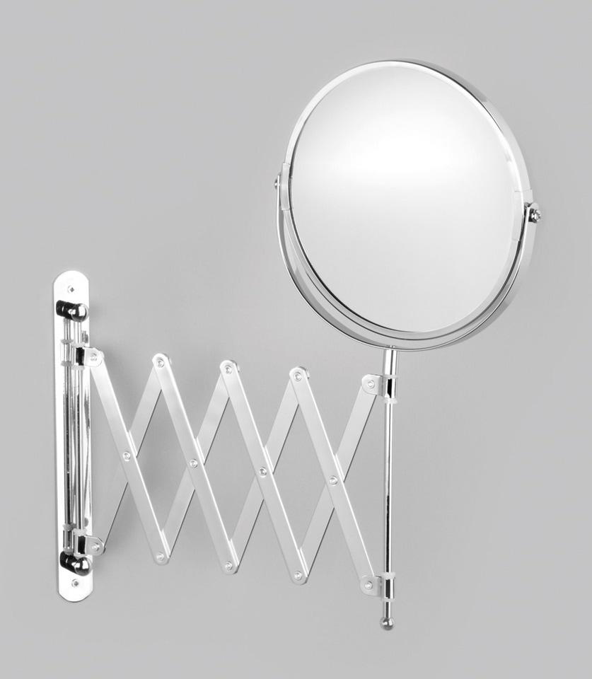 Zeller Spiegel / Kosmetikspiegel »3-fache Vergrößerung« Durchmesser 17 cm | Bad > Bad-Accessoires > Kosmetikspiegel | Grau | Zeller Present