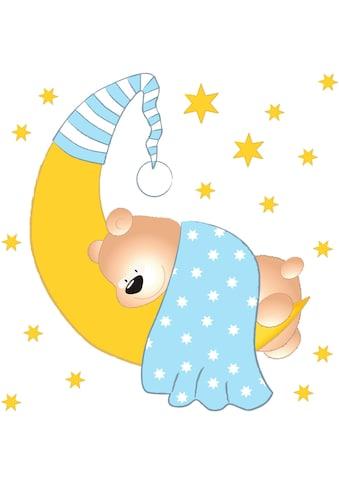 Wandtattoo »Bärchen, Mond und Sterne« kaufen