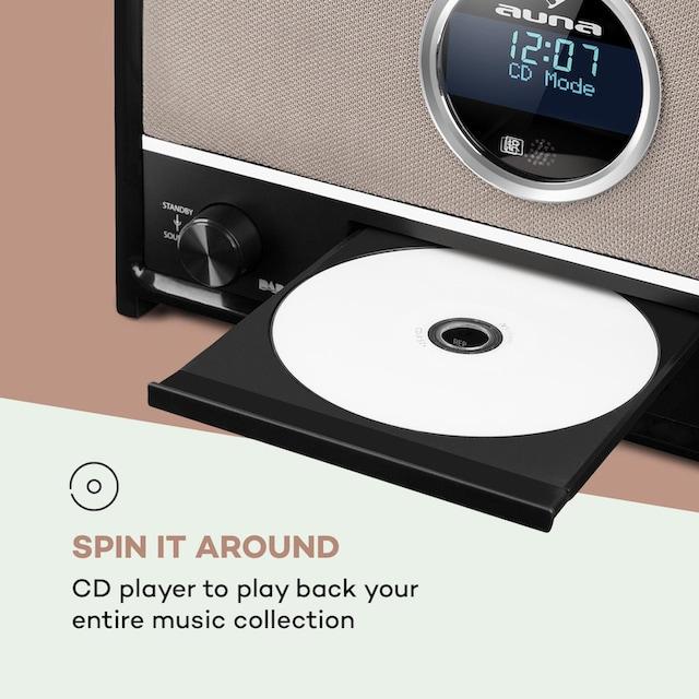 Auna DAB Radio 60 W max. CD DAB+/UKW-Tuner BT MP3 USB schwarz »Columbia«