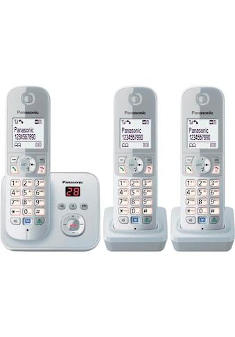 Panasonic Schnurloses DECT-Telefon »TG6823G Trio«, (Mobilteile: 3 ), mit Anrufbeantworter, Nachtmodis, Freisprechen kaufen