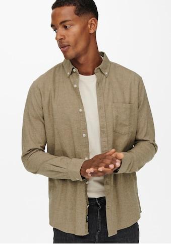 ONLY & SONS Langarmhemd »NIKO LIFE MELANGE SHIRT« kaufen