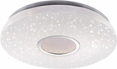 Leuchten Direkt Deckenleuchte »JONAS«, LED-Board, Warmweiß-Neutralweiß-Tageslichtweiß-Kaltweiß, 3-Stufen CCT - Farbtemperaturregelung (3000K/4000K/5000K), stufenloses Dimmen über IR-Fernbedienung, inklusive IR-Fernbedienung, Sternenhimmeloptik, Serienschalter, Memoryfunktion, Ø ca. 42 cm kaufen