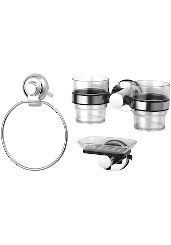 Badaccessoires - Sets »HOOKIE System® 3 - teilig«, mit Zahnputzbechern, Seifenschale und Handtuchhalter kaufen