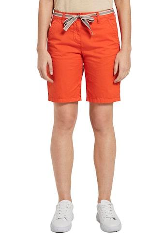 TOM TAILOR Shorts, (mit Bindegürtel), mit Bindegürtel im Ethno-Design kaufen