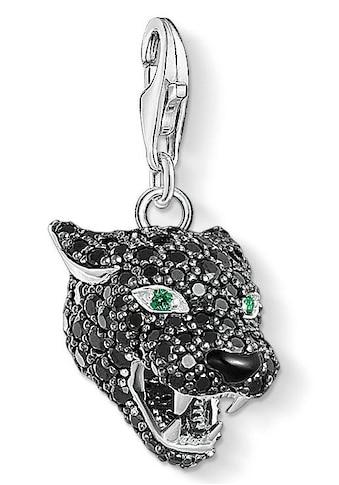 """THOMAS SABO Charm-Einhänger »Charm-Anhänger """"Black Cat"""", 1696-845-11«, mit Zirkonia und Glassteinen kaufen"""