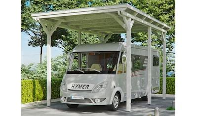 Skanholz Einzelcarport »Caravan-Emsland«, Leimholz-Nordisches Fichtenholz, 341 cm, weiß kaufen