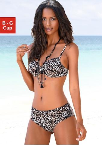 LASCANA Bügel-Bikini, in bedruckter Optik kaufen