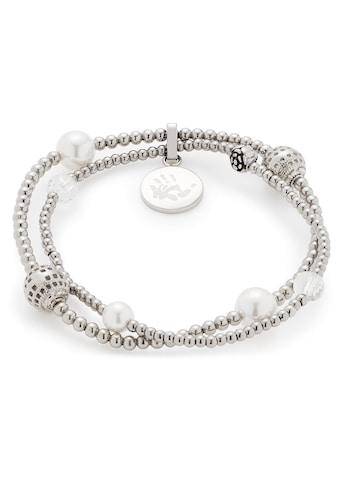 LEONARDO Edelstahlarmband »Vaporoso, 016814«, mit imit. Perlen kaufen