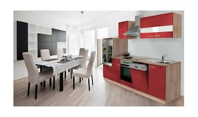 RESPEKTA Küchenzeile »Anna«, mit E-Geräten, Breite 280 cm, mit Glaskeramik-Kochfeld kaufen