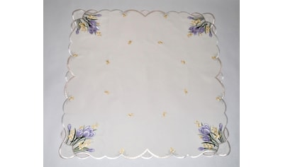 Mitteldecke, »Tischdecke Krokusblüte«, Stickereien Plauen kaufen
