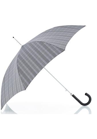 doppler MANUFAKTUR Stockregenschirm »Orion, karo grau«, handgemachter Manufaktur-Stockschirm kaufen