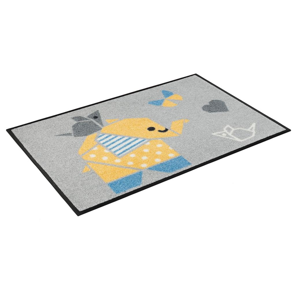 wash+dry by Kleen-Tex Fußmatte »Origami Animals«, rechteckig, 7 mm Höhe, Schmutzfangmatte, In- und Outdoor geeignet, waschbar