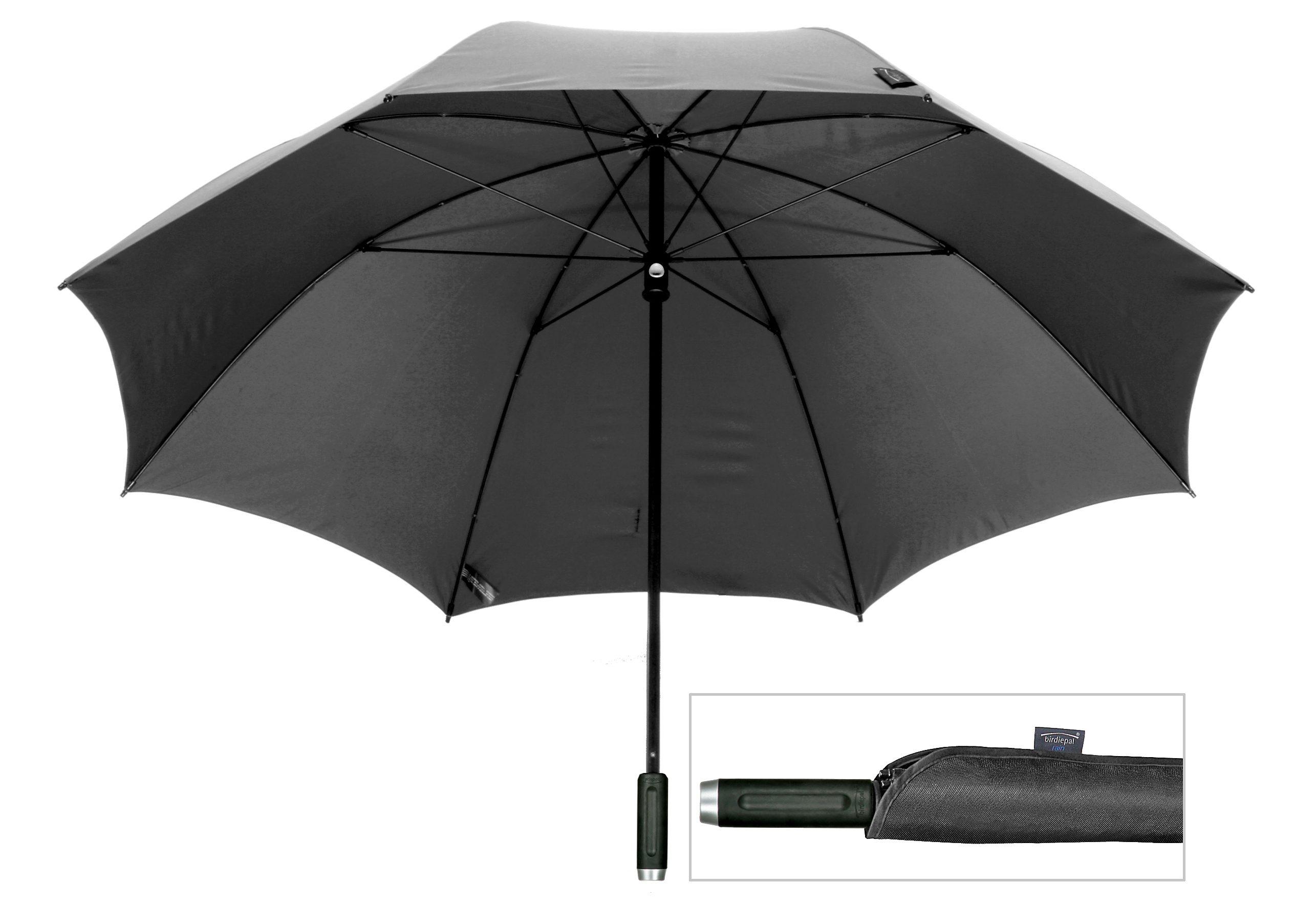 Euroschirm® Regenschirm in XXL, »birdiepal® rain«   Accessoires > Regenschirme > Sonstige Regenschirme   Schwarz   Glasfaser - Polyester - Polyamid - Pvc   EUROSCHIRM®