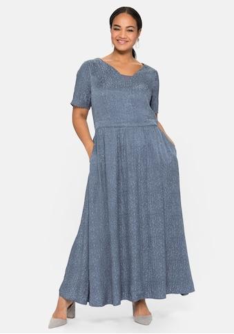 Sheego Abendkleid, mit leicht glänzendem Jacquardmuster kaufen