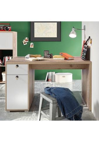 Schreibtisch »Leni«, mit Seilgriffen, im modernen Dekor Old Style hell kaufen