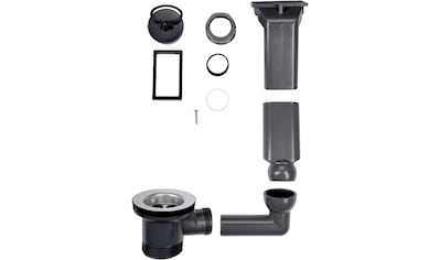 CORNAT Ablaufgarnitur und Überlaufgarnitur »Rezyklat«, Ø 45,5 mm, aus recyceltem Kunststoff kaufen