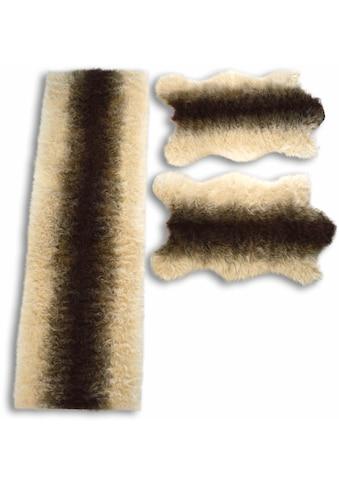 KiNZLER Bettumrandung »Fell Streifen«, Kunstfell kaufen