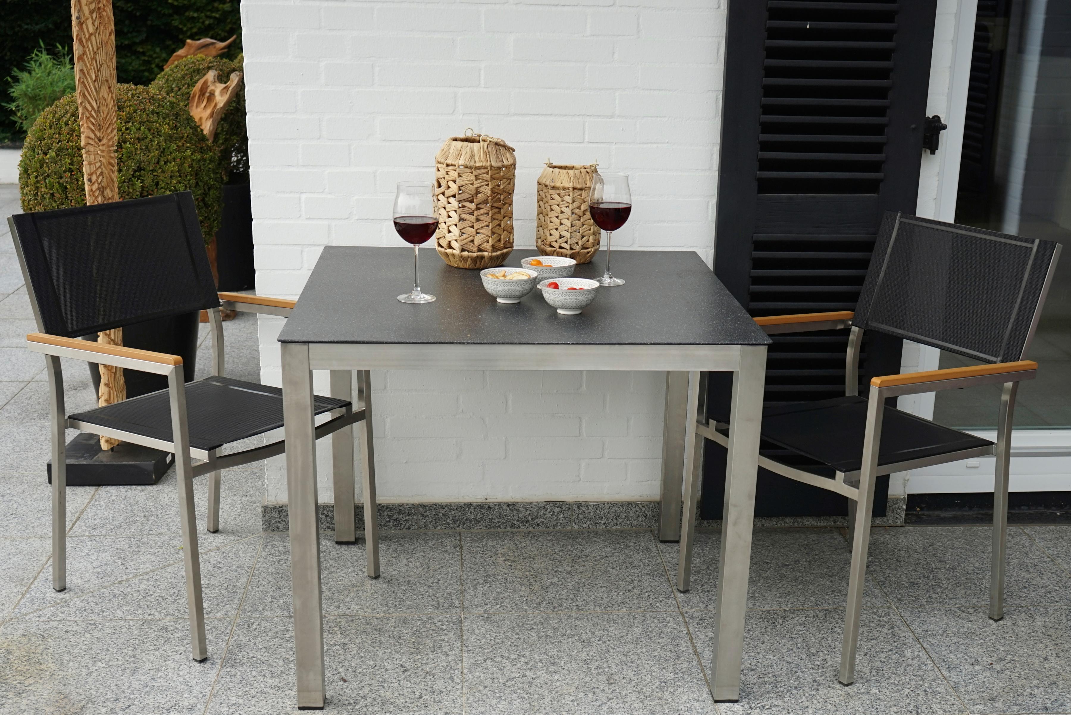 Ploss Gartenmobelset Soho 3 Tlg 2 Stuhle Tisch 90x90 Cm