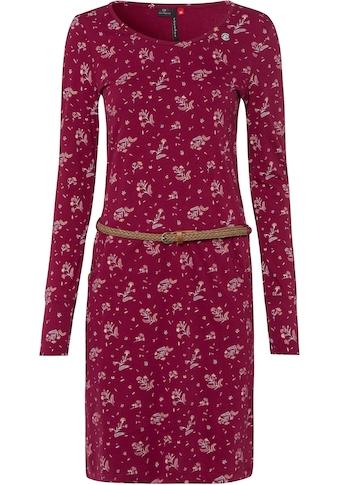 Ragwear Jerseykleid »MONTANA«, (2 tlg., mit abnehmbarem Gürtel), mit Flower Allover-Druck kaufen